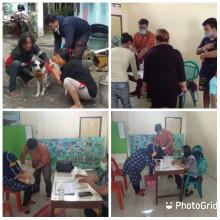 Pelaksanaan Vaksinasi Rabies  hewan peliharaan di Kelurahan Tegalpanggung
