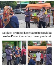 Pendataan dan Edukasi Prokes Pelaku Usaha Pasar Ramadhan Masa Pandemi